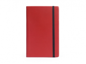 Leather notebook in red